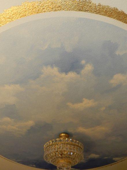 Barock Himmel Deckenmalerei mit Naturfarben